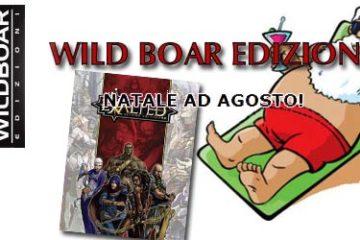 """il logo dell'iniziativa """"natale ad agosto"""" di wild boar"""