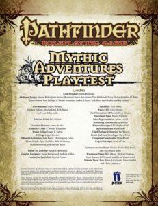 Mythic Adventures playtest