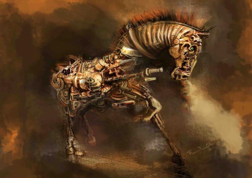 Un cavallo meccanico!