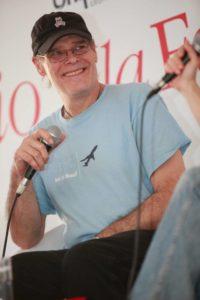 James O'Barr, autore del Corvo, alla presentazione della ristampa alla Tenda Feltrinelli del Biografilm Festival di Bologna