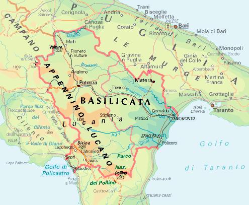 Cartina Calabria E Basilicata.Le Regioni Del Larp Basilicata E Calabria Gdritalia