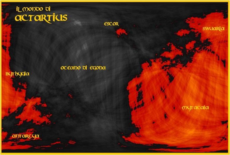 Mappa del mondo conosciuto
