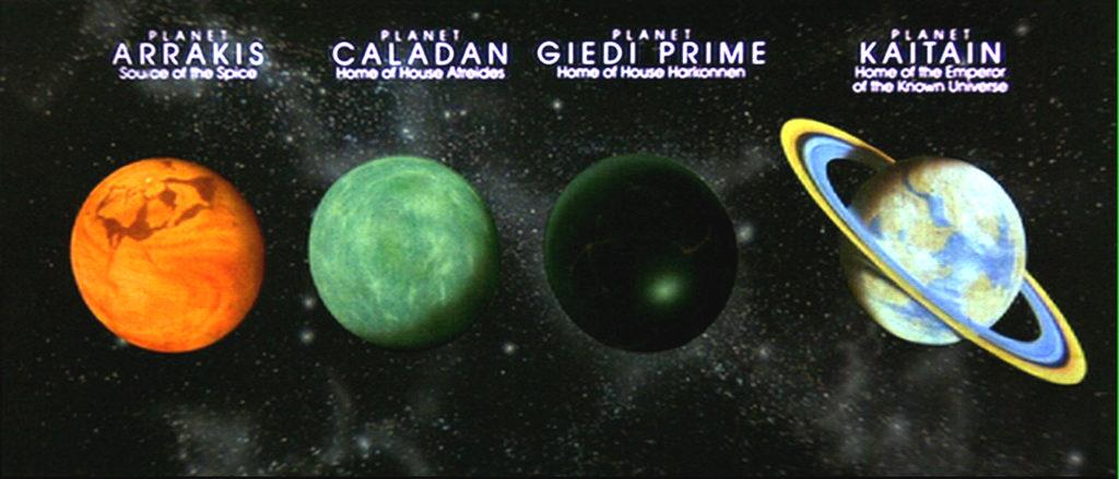 I pianeti protagonisti a loro volta della trama del film