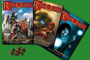 I tre manuali annunciati:  del giocatore (base) e i supplementi dedicati al master e alla magia.