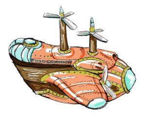 Che fantasy giapponese sarebbe senza le navi volanti?