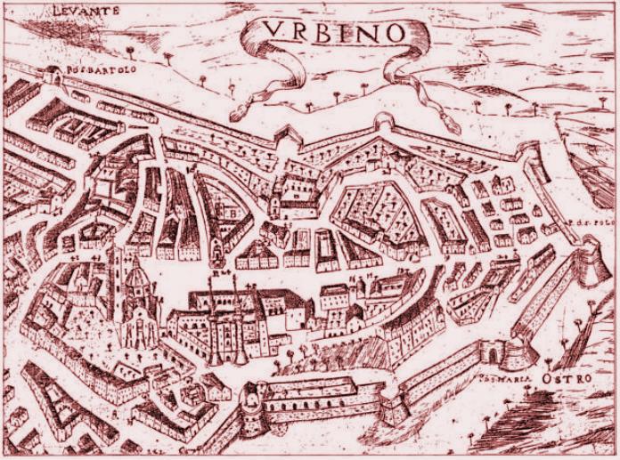 Pianta Urbino (Tommaso Luci 1689)