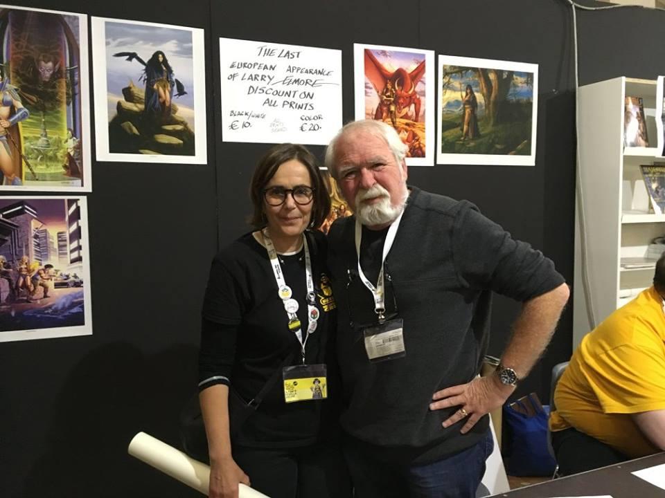 Il punto fermo di Lucca Games Mirella Vicini con Larry Elmore alla sua ultima Lucca. Certe foto riassumono tutto.