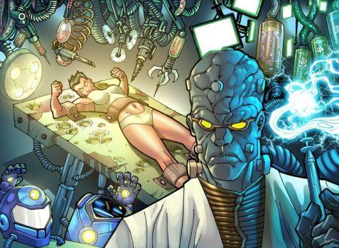 Iron Man- Ops! Ultramarine potrà aver perso l'armatura, ma tanto nel prossimo numero l'avrà ricostruita.